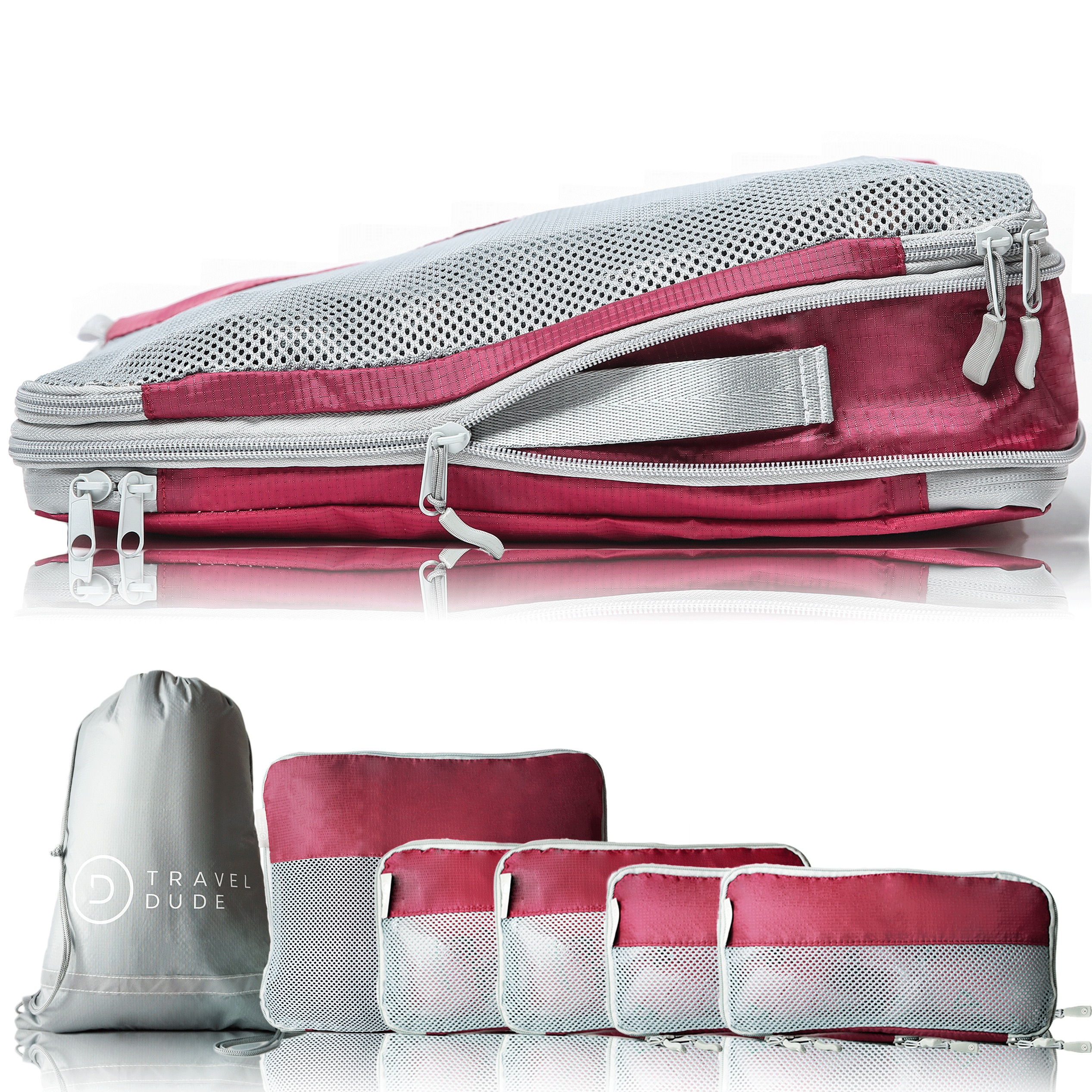 min 7-Piece Packing Cube Set Travel Luggage Packing Organizers with Shoe Bag