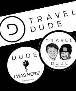 TRAVEL DUDE Sticker Set