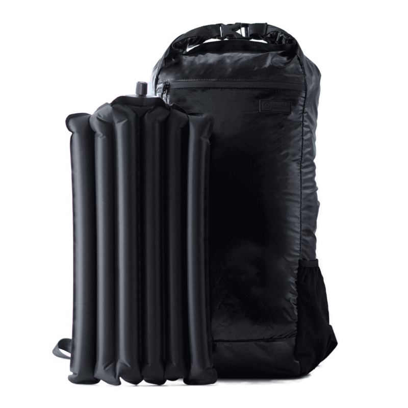 Foldable Backpack with Inflatable Air Cushion